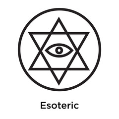 Esoteric icon vector sign and symbol isolated on white background