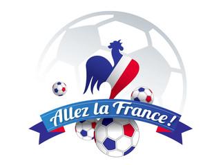 ALLEZ LA FRANCE avec coq et ballons