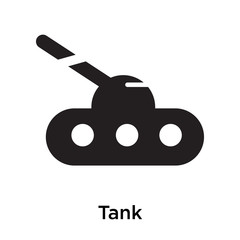 Tank icon vector sign and symbol isolated on white background