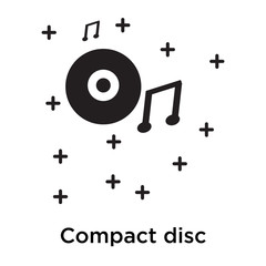 Compact disc icon vector sign and symbol isolated on white background