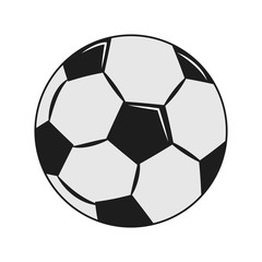 Soccer ball isolated vector illustration graphic design