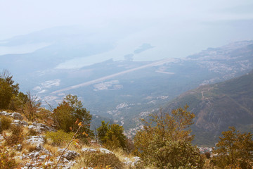 View from the mountain of Tivat. Montenegro.