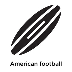 American football icon vector sign and symbol isolated on white background