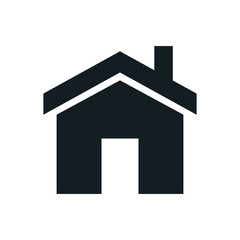 Home icon, Homepage - website or real estate symbol, vector illustration