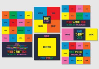 Color Block Social Media Post Layouts