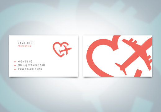 Travel Business Card Layout