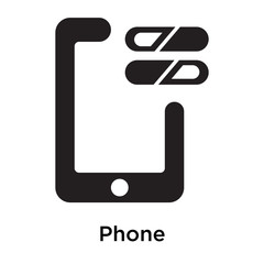 Phone icon vector sign and symbol isolated on white background
