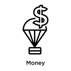 Money icon vector sign and symbol isolated on white background