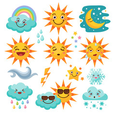 Various weather icon set