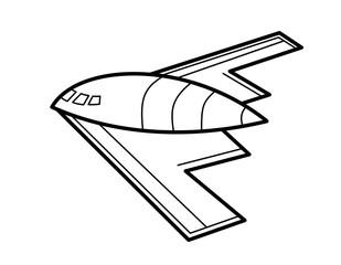ステルス爆撃機模様(線画)