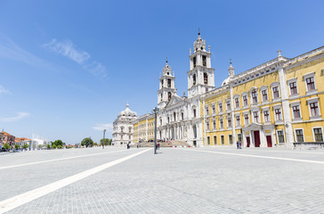 Royal Convent (Palace) of Mafra, Lisbon district, Portugal - 19 May 2018