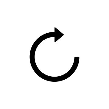 reboot sign icon. Element of web icon for mobile concept and web apps. Isolated reboot sign icon can be used for web and mobile. Premium icon