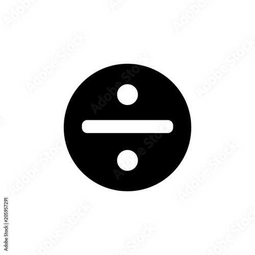 Division Symbol In A Circle Icon Element Of Web Icon For Mobile