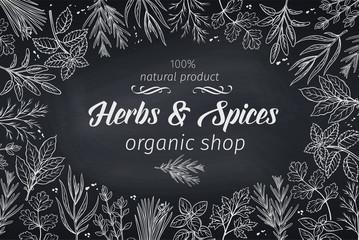 sketch herbs