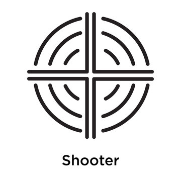 Shooter icon vector sign and symbol isolated on white background