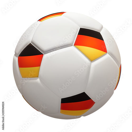 Fussball Deutschland Flagge Fahne Freigestellt Stock Photo