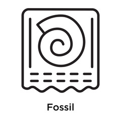 Fossil icon vector sign and symbol isolated on white background