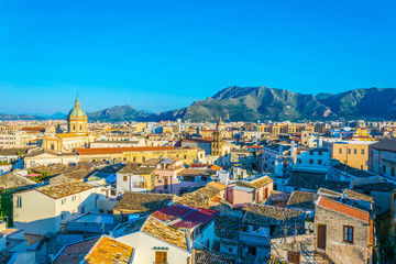 La pose en embrasure Palerme Aerial view of Palermo, Sicily, Italy