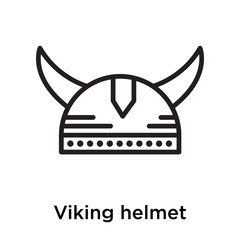 Viking helmet icon vector sign and symbol isolated on white background