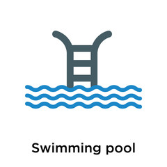 Swimming pool icon vector sign and symbol isolated on white background