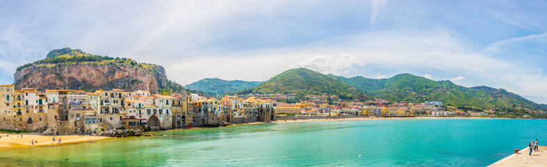 View of the sicilian city Cefalu, Italy