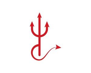 Trisula Devil logo vector