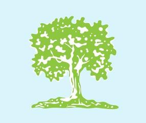 Tree Silhouette, art vector design