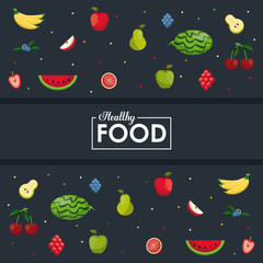 Healthy and fresh food to eat vector illustration graphic design
