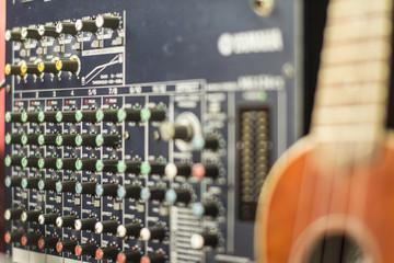 volume control, audio system's sound engineer.