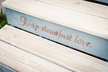 Wooden Stairs with Scripture Verse