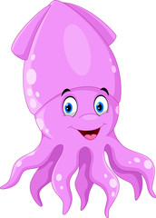 Funny squid cartoon