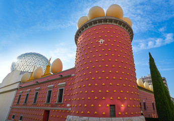 Salvador Dali museum in Figueres of Catalonia