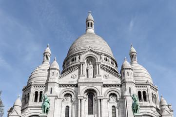 Basilique de Sacre Coeur closeup of the domes