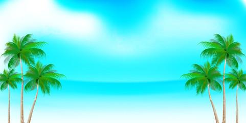 海 夏 ヤシの木 背景