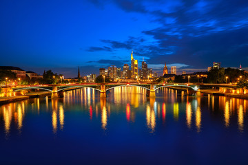 Wall Mural - Frankfurt skyline at sunset in Germany