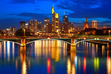 Wall Mural - Frankfurt skyline at sunset in Germany