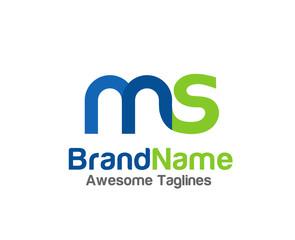 creative Letter MS logo color design elements. simple letter MS letter logo,Business corporate letter MS logo design vector
