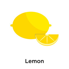 Lemon icon isolated on white background