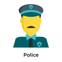 Police icon isolated on white background