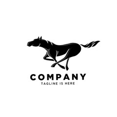 Horse run fast logo