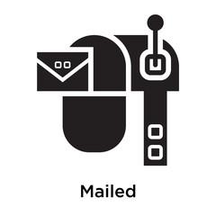 Mailed icon isolated on white background