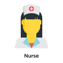 Nurse icon isolated on white background