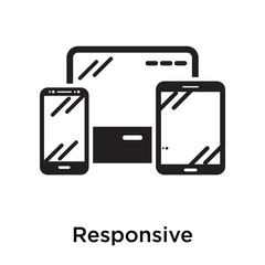 Responsive icon isolated on white background