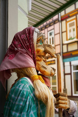 Wernigerode witch face in Harz Germany