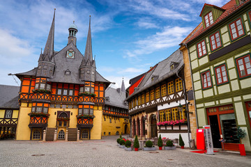 Wernigerode Rathaus Stadt city hall Harz Germany
