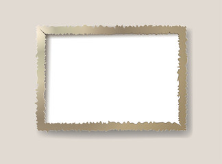 Wall Mural - Cut of paper frame photo