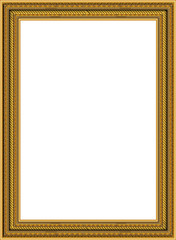 Wall Mural - Gold photo frame with corner Thailand line floral for picture
