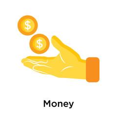 Money icon isolated on white background