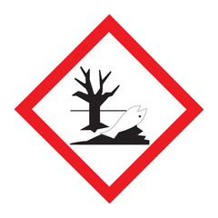 Standard Pictogam of Environmental hazard Symbol, Warning sign of Globally Harmonized System (GHS)