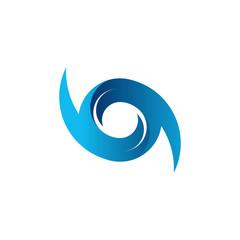 Hurricane Logo Symbol. Abstract Hurricane icon